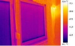 Hőkamerás felvétel ablakszigetelés és üvegcsere előtt