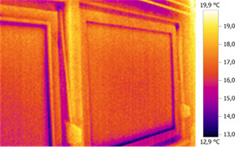 Hőkamerás felvétel ablakszigetelés és üvegcsere után
